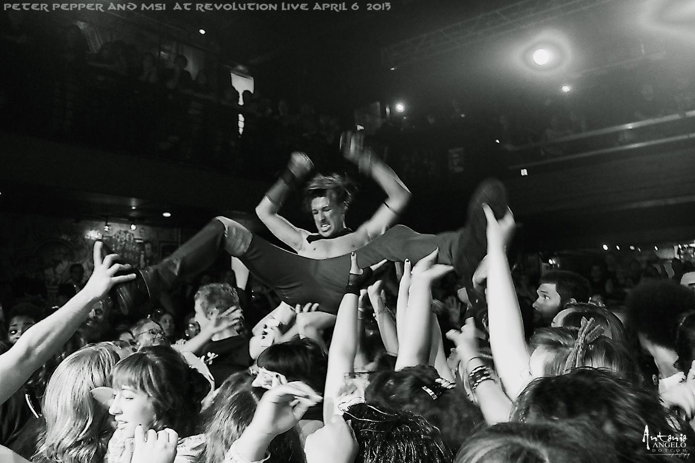 Peter Pepper crowd surfing